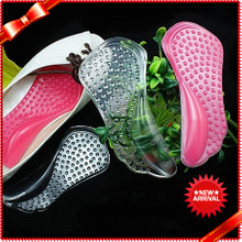 Hot Selling Soft PU Arch Support Insoles For Ladies High Heel 3/4 Insoles