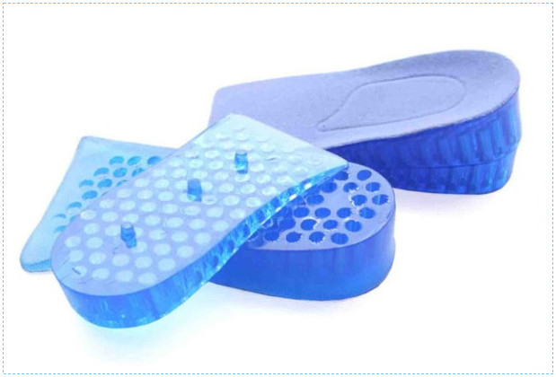 Two Layers 5cm Gel Arch Support Custom Gel Height Increase Insole