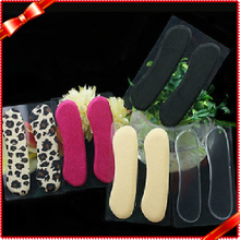 Silicone Heel Shoe Inserts Leopard Print Insole