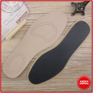 Breathable Lampskin Leather Insole Black Leather Insoles